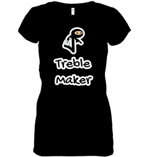 Treble Maker Robber  - Hanes Women's Nano-T® V-Neck T-Shirt