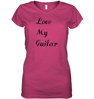 Love My Guitar simple and true - Hanes Women's Nano-T® V-Neck T-Shirt