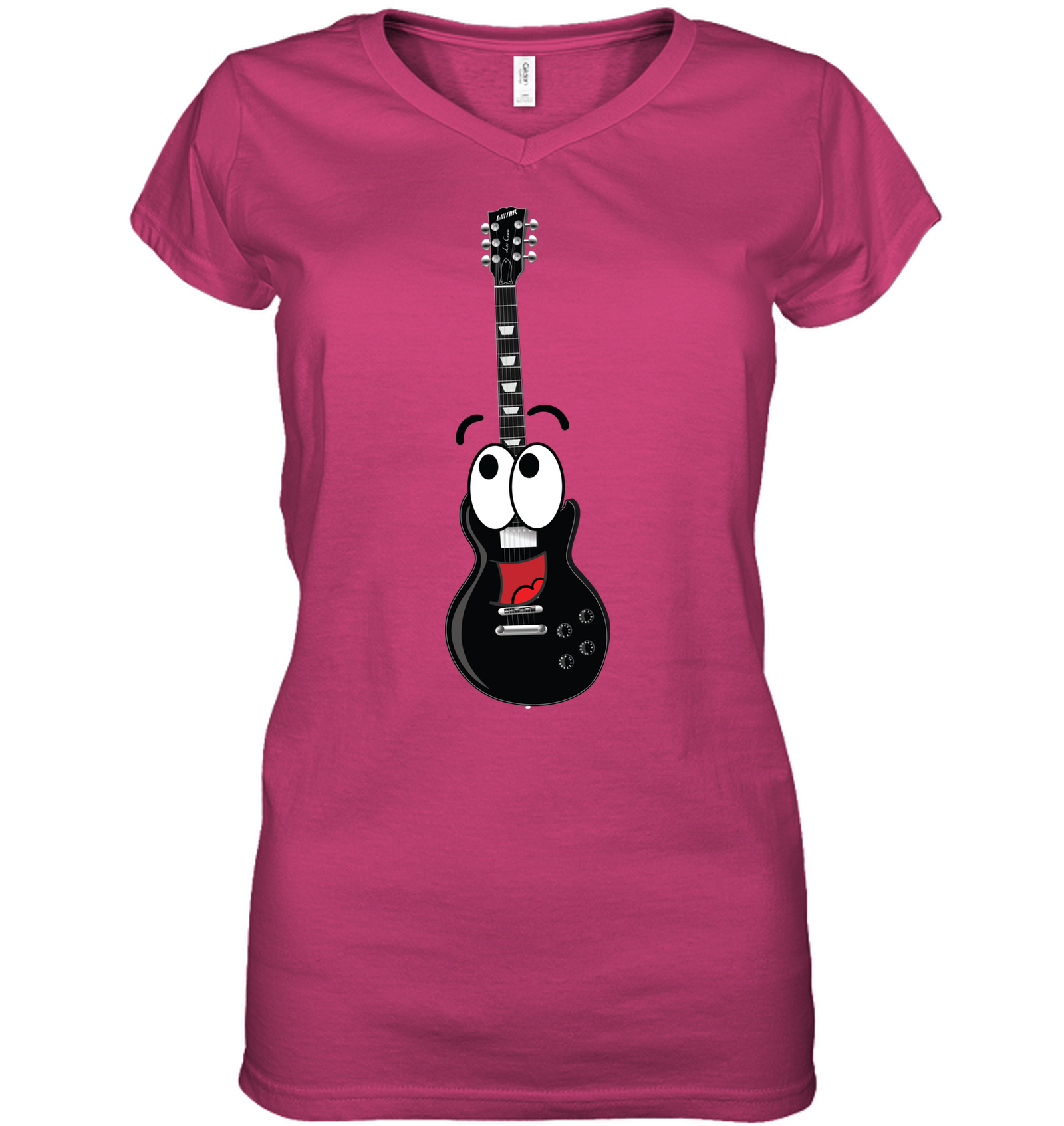 Electric Guitar Fun - Hanes Women's Nano-T® V-Neck T-Shirt