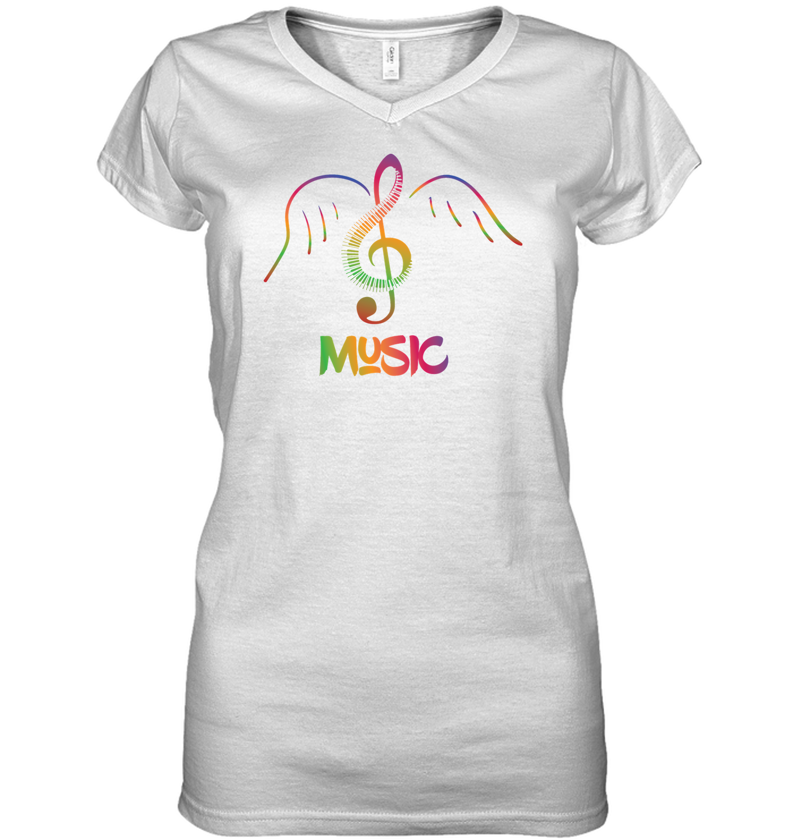Musical Wings - Hanes Women's Nano-T® V-Neck T-Shirt