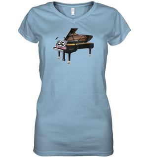 Piano Eyes  - Hanes Women's Nano-T® V-Neck T-Shirt