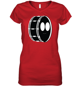 Bass Drum - Hanes Women's Nano-T® V-Neck T-Shirt