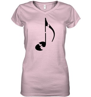 Broken Note- Hanes Women's Nano-T® V-Neck T-Shirt
