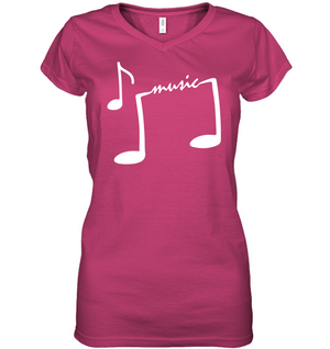 Musical Feet  - Hanes Women's Nano-T® V-Neck T-Shirt