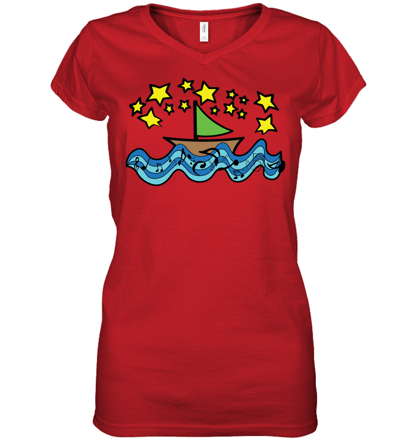 Sailing Under the Stars - Hanes Women's Nano-T® V-Neck T-Shirt
