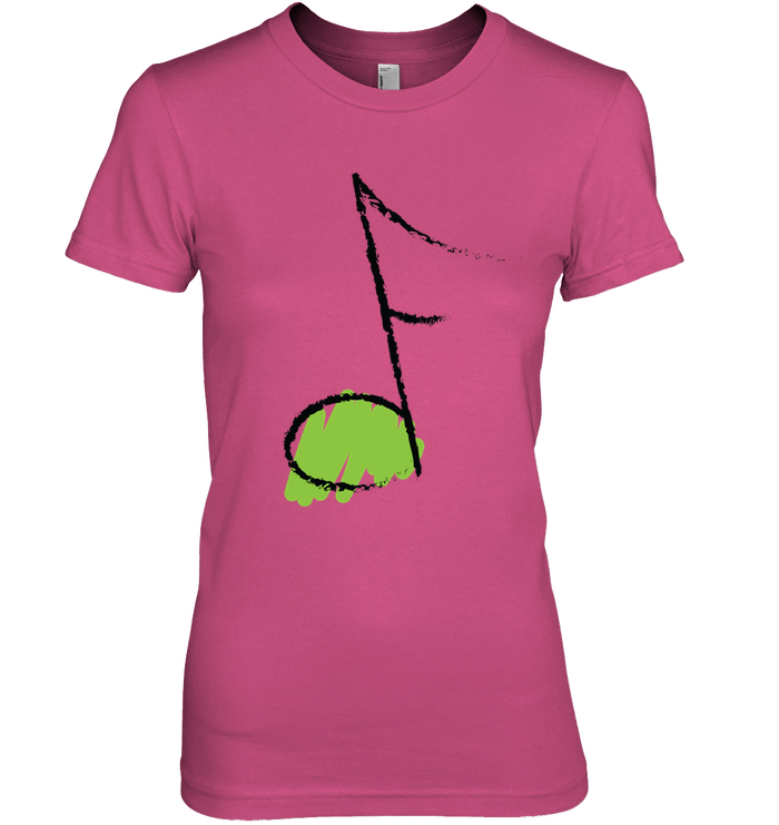 Green Note - Hanes Women's Nano-T® T-shirt