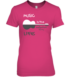Music is the Reflection of my Life - Hanes Women's Nano-T® T-Shirt