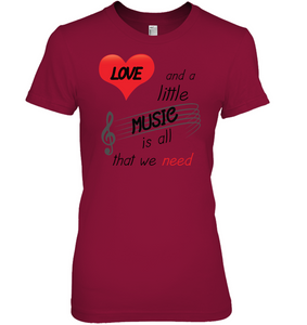 Love and a Little Music is all that we need - Hanes Women's Nano-T® T-shirt