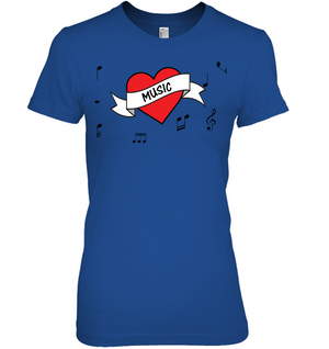 Musical Heart  - Hanes Women's Nano-T® T-shirt