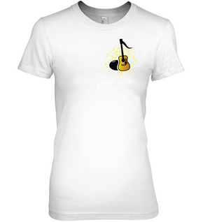 Acoustic Guitar Note (Pocket Size) - Hanes Women's Nano-T® T-Shirt
