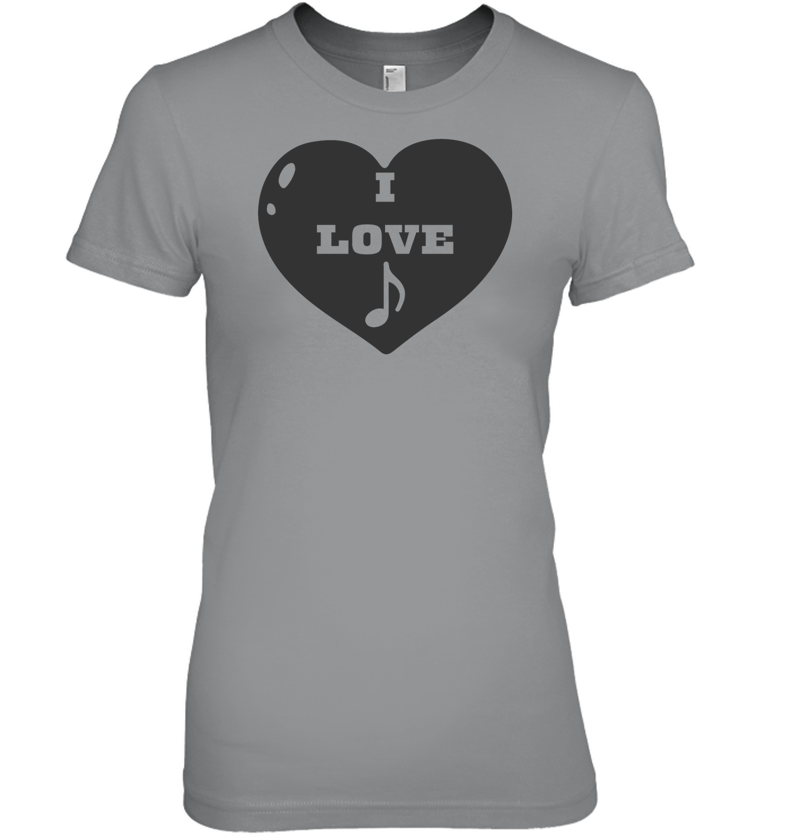 I Love Note Heart - Hanes Women's Nano-T® T-shirt