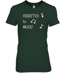 Addicted to Music - Hanes Women's Nano-T® T-shirt
