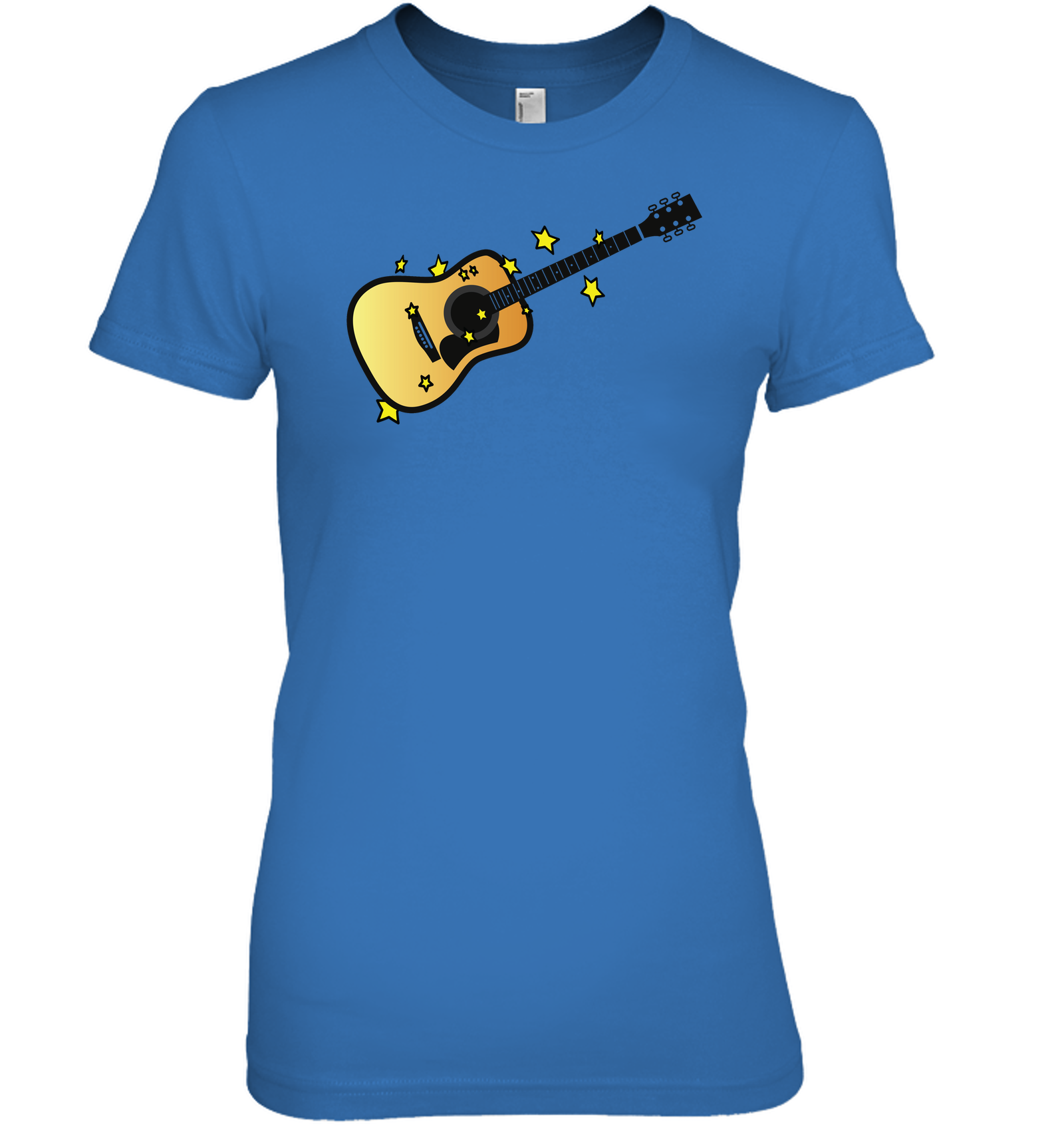 Acoustic Guitar in the Stars - Hanes Women's Nano-T® T-Shirt