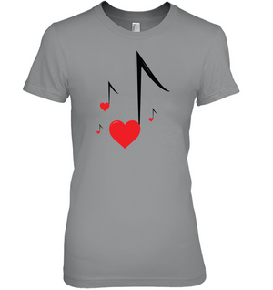 Four Floating Heart Notes  - Hanes Women's Nano-T® T-shirt