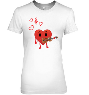 Heart Playing Violin  - Hanes Women's Nano-T® T-shirt