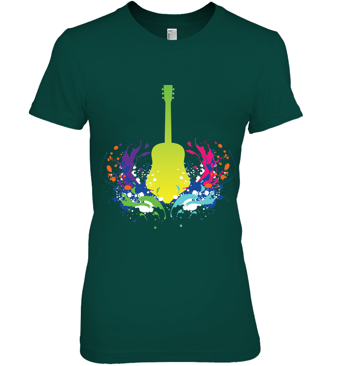 Guitar is Born - Hanes Women's Nano-T® T-Shirt