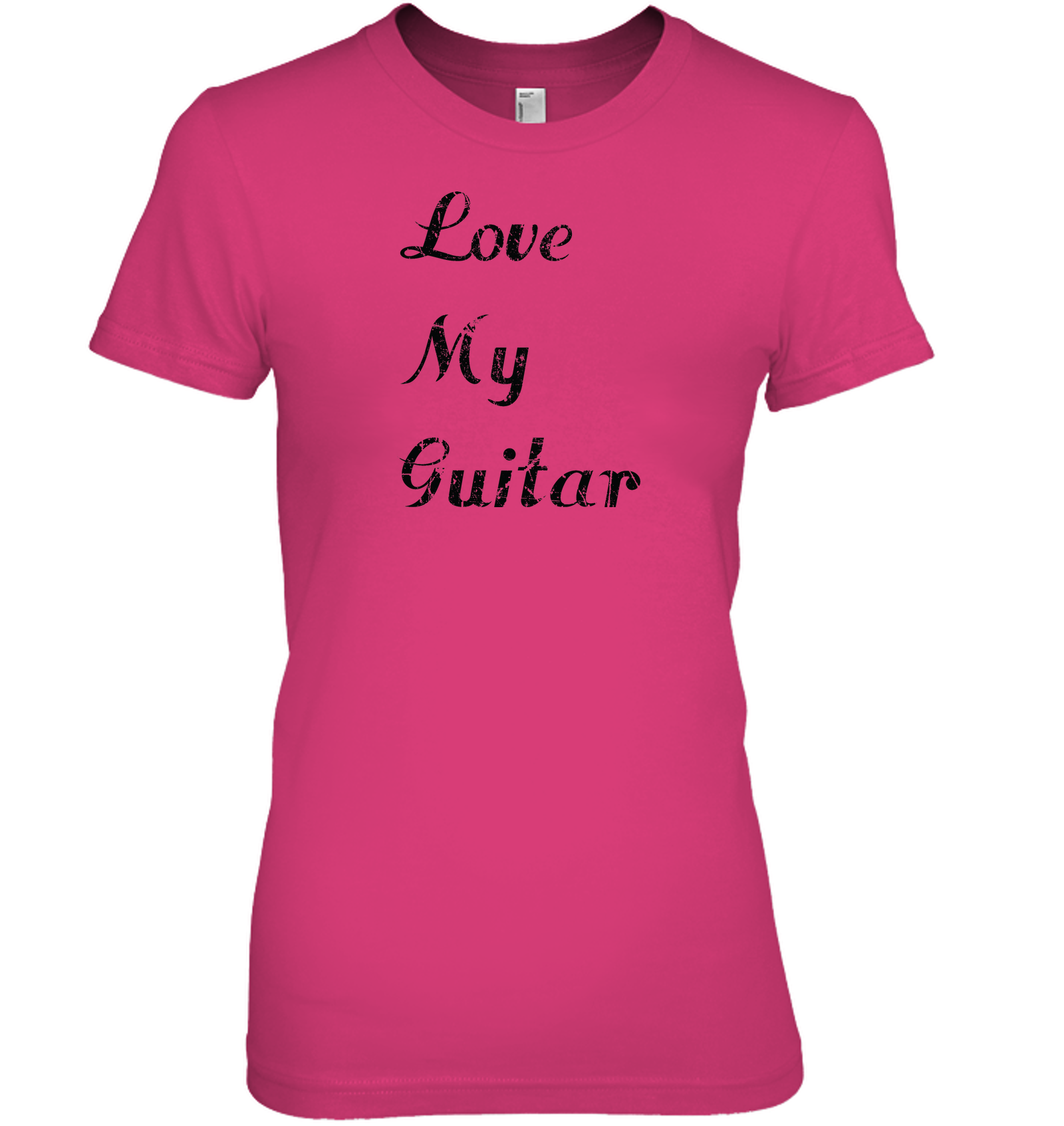 Love My Guitar simple and true - Hanes Women's Nano-T® T-shirt