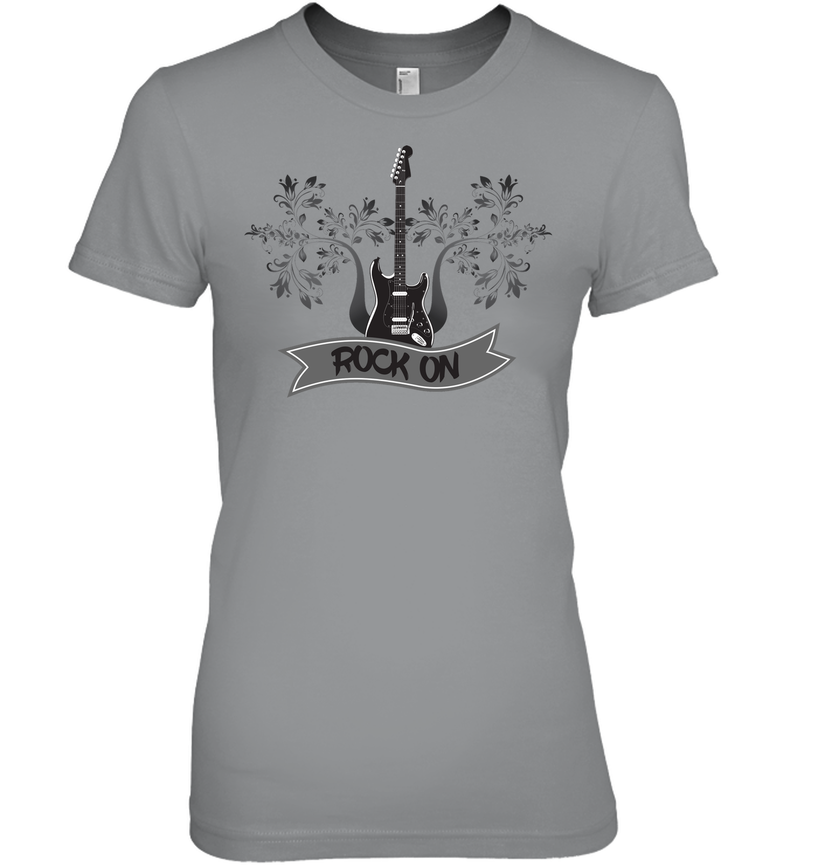 Rock On Electric Guitar - Hanes Women's Nano-T® T-shirt