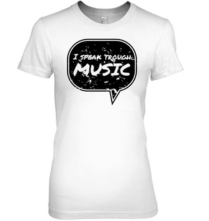 I speak through Music (Black) - Hanes Women's Nano-T® T-shirt