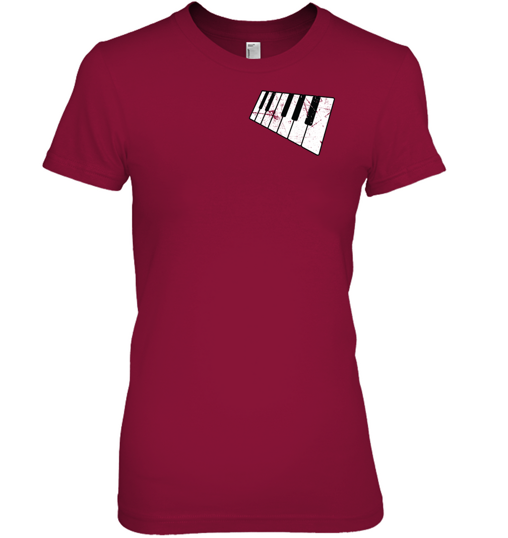 floating Piano Keyboard (Pocket Size) - Hanes Women's Nano-T® T-shirt