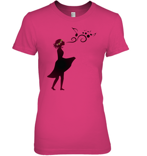 Girl Singing Silhouette - Hanes Women's Nano-T® T-Shirt