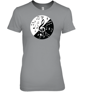 Musical Circle White Black - Hanes Women's Nano-T® T-Shirt