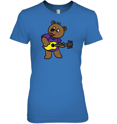 Bear Playing Guitar - Hanes Women's Nano-T® T-Shirt