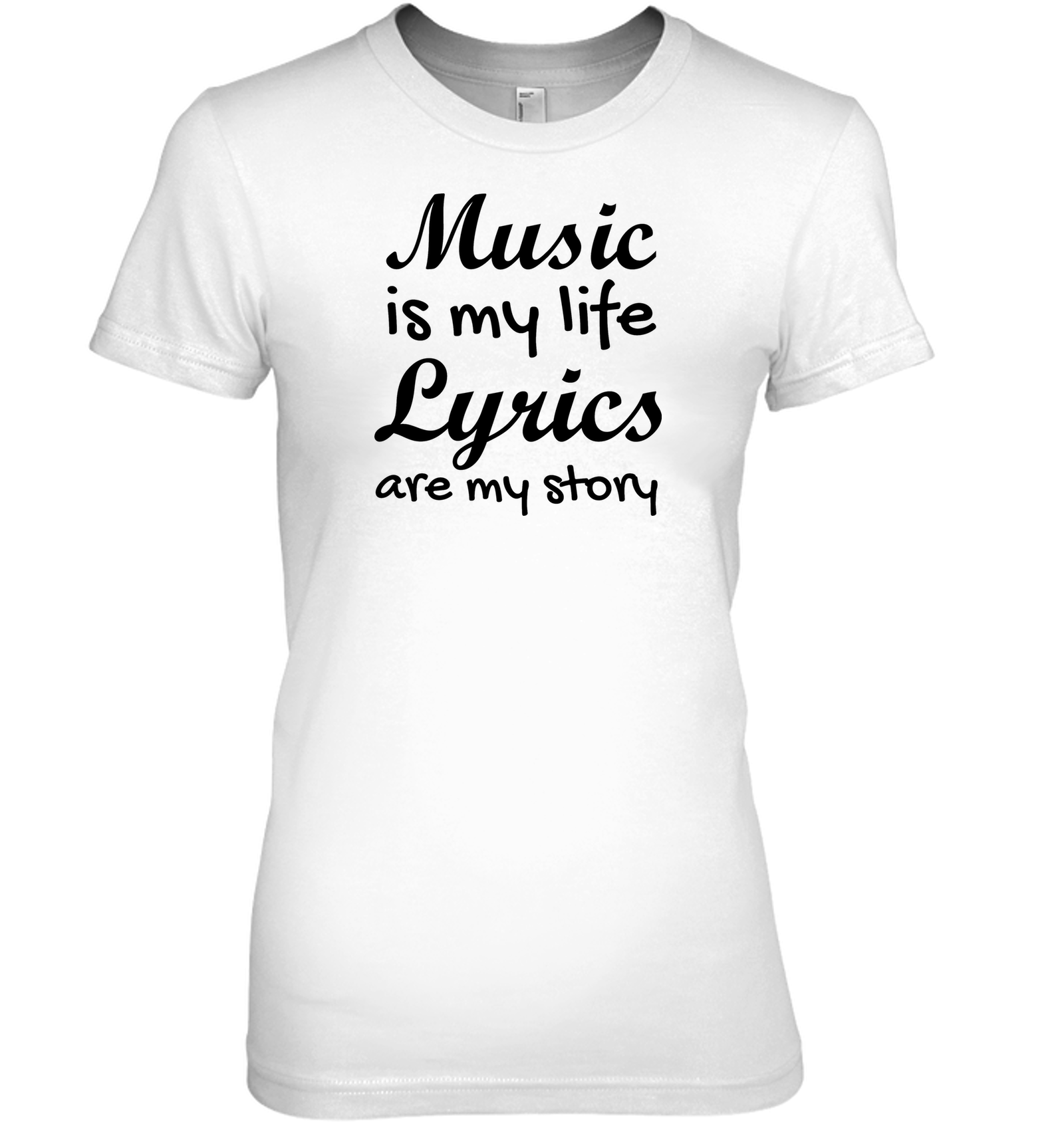 Music is my life Lyrics are my story  - Hanes Women's Nano-T® T-Shirt