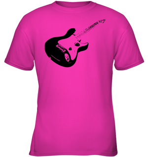 Cool black electric guitar - Gildan Youth Short Sleeve T-Shirt