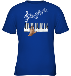Playin the Keyboard - Gildan Youth Short Sleeve T-Shirt