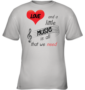 Love and a Little Music is all that we need - Gildan Youth Short Sleeve T-Shirt