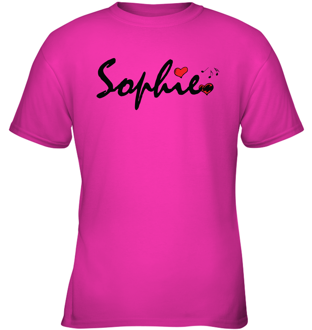 Sophie Loves Music - Gildan Youth Short Sleeve T-Shirt