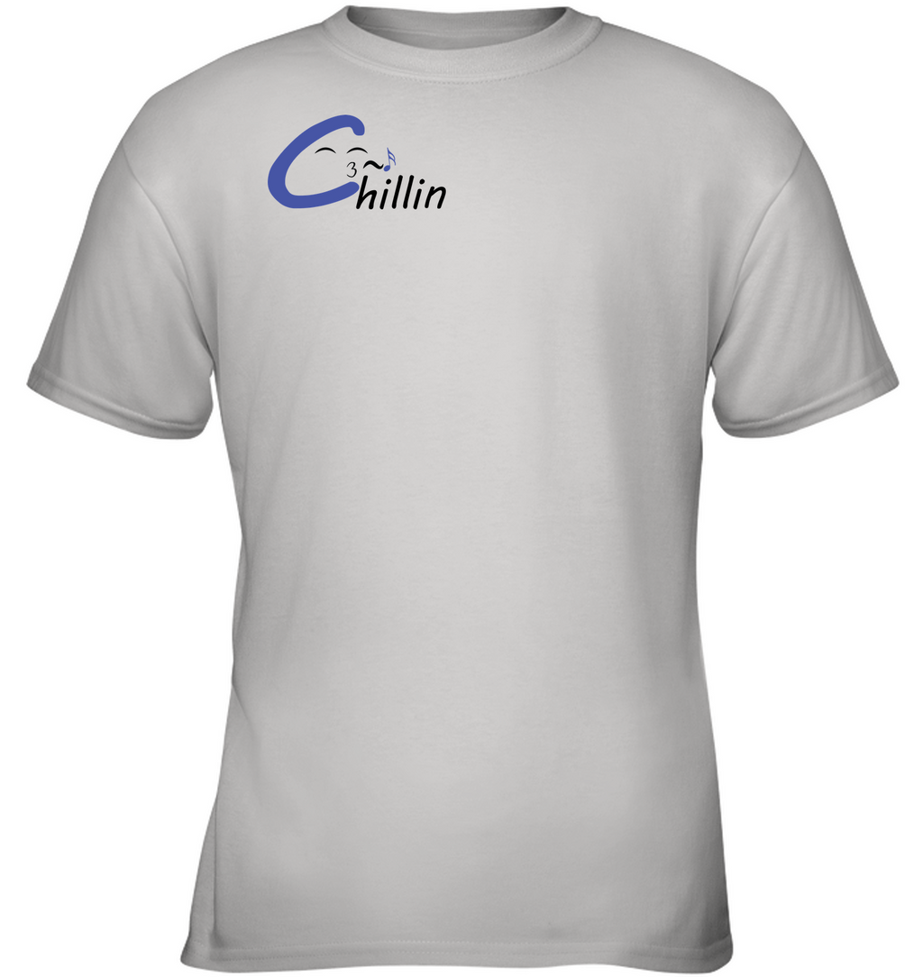 Chillin enjoying music (Pocket Size)) - Gildan Youth Short Sleeve T-Shirt