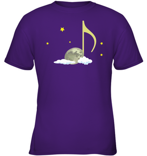 Night Note and stars - Gildan Youth Short Sleeve T-Shirt