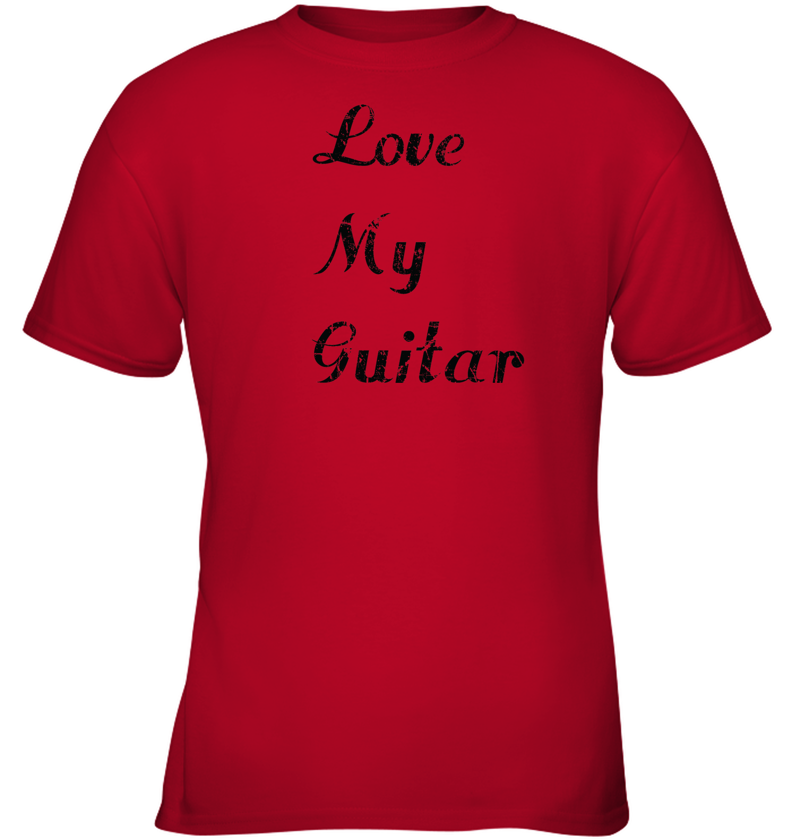 Love My Guitar simple and true - Gildan Youth Short Sleeve T-Shirt