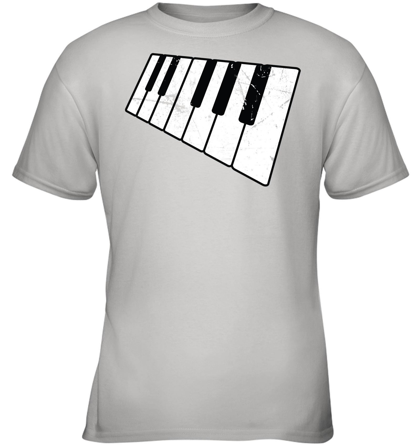 Floating Piano Keyboard - Gildan Youth Short Sleeve T-Shirt
