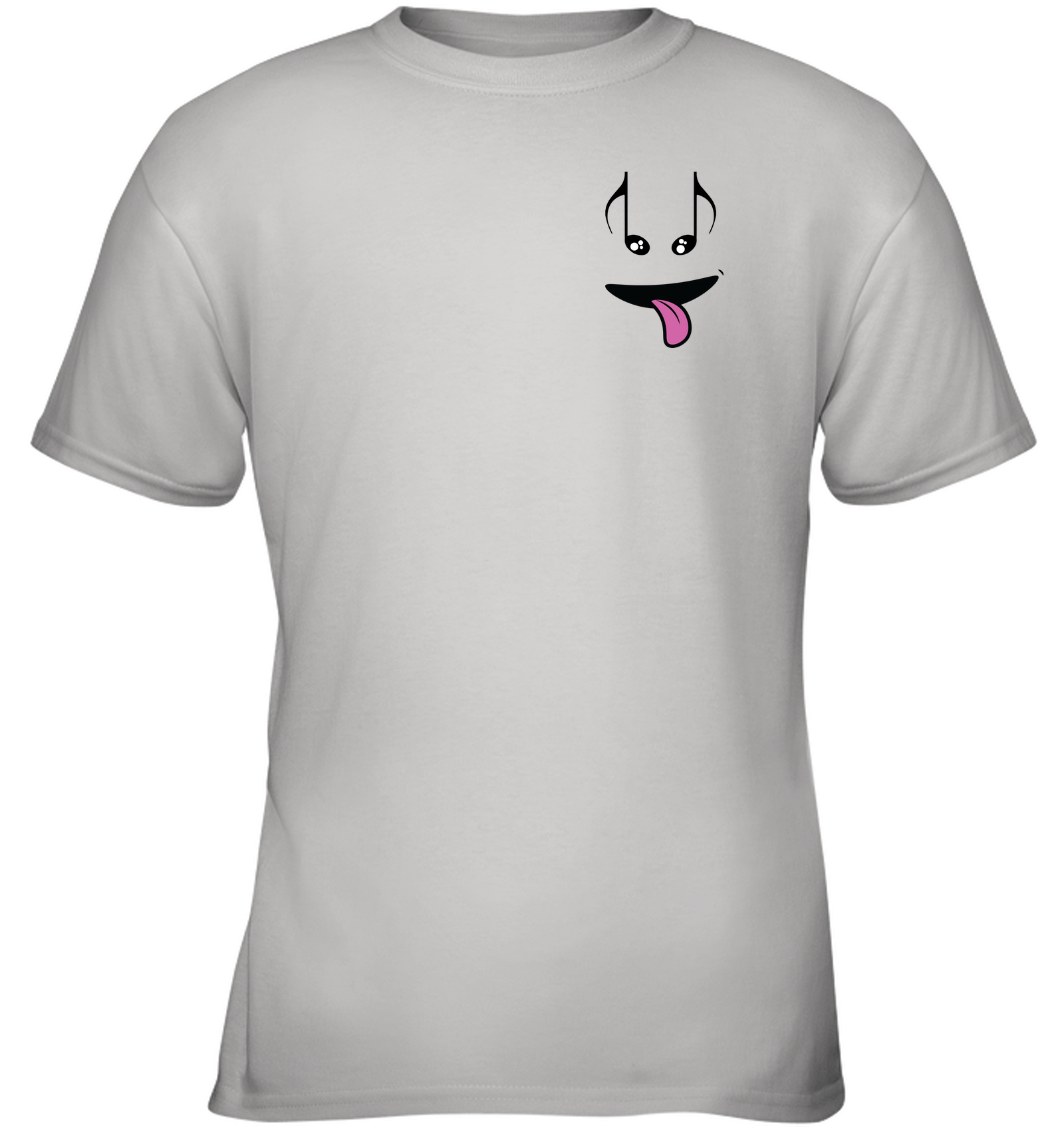 Silly Note Face (Pocket Size) - Gildan Youth Short Sleeve T-Shirt