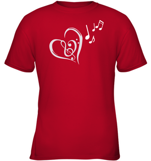 Heart Felt Notes - Gildan Youth Short Sleeve T-Shirt