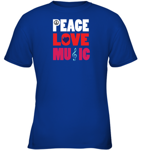 Peace Love Music - Gildan Youth Short Sleeve T-Shirt
