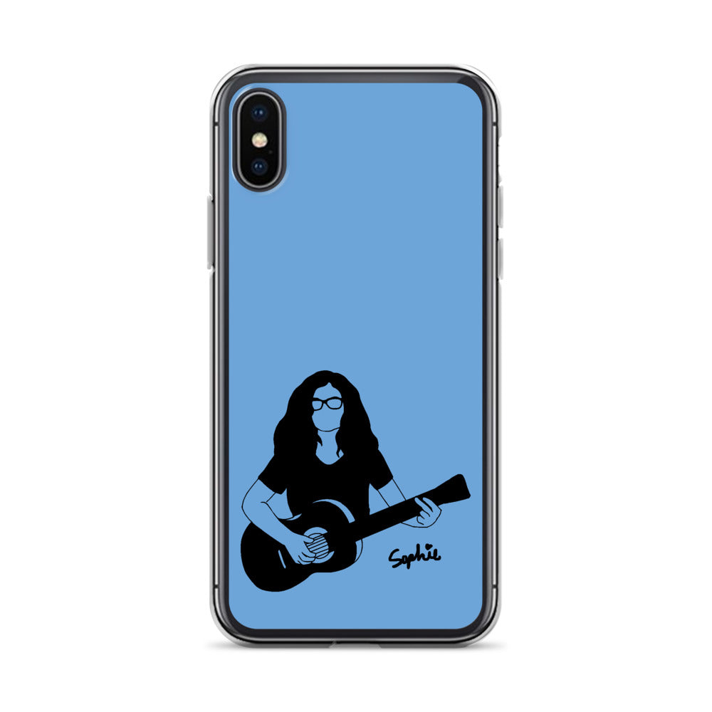 Playin My Guitar iPhone Case (Blue)