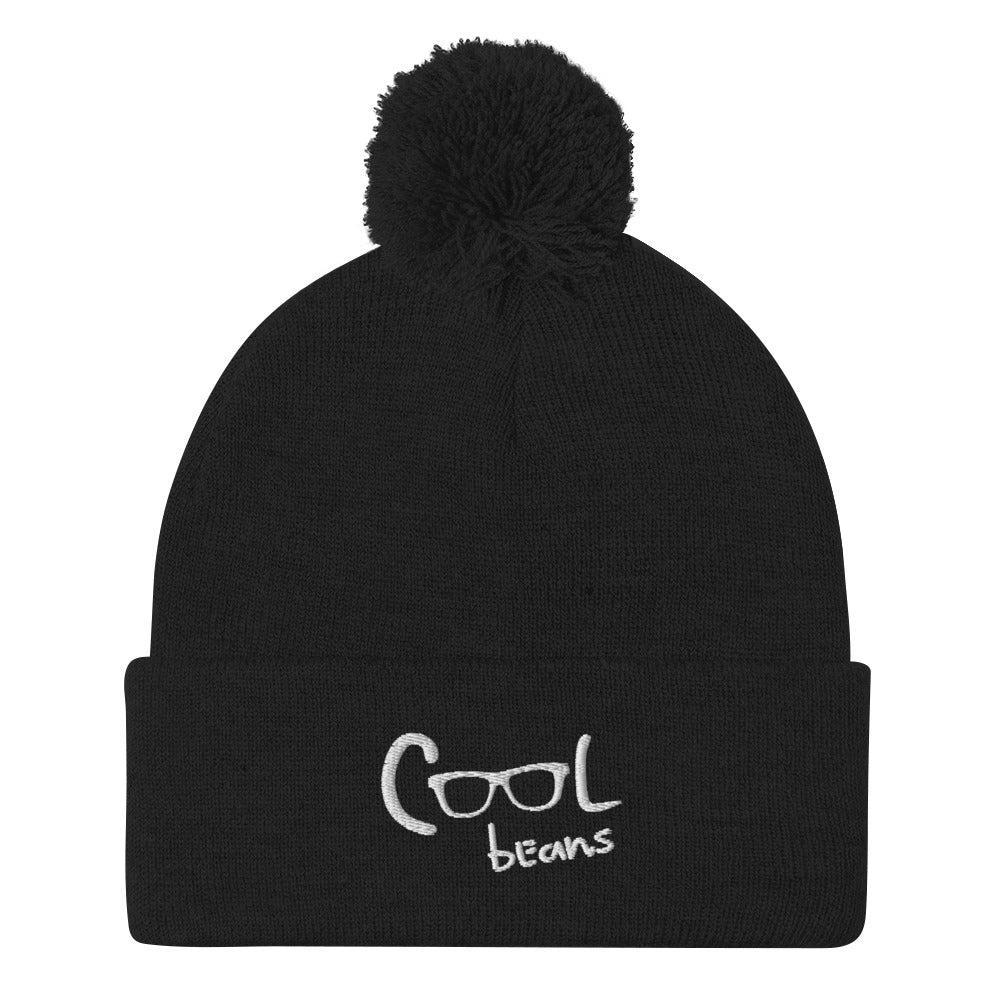 Cool Beans Pom-Pom Beanie (Embroidered)