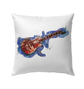 Guitar Art - Outdoor Pillow