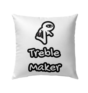 Treble Maker Robber White - Outdoor Pillow