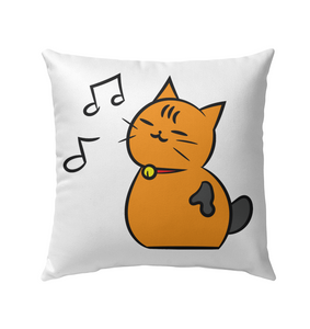 Singing Kitty - Outdoor Pillow
