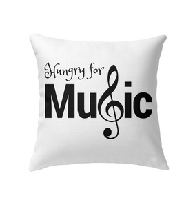 Hungry for Music - Indoor Pillow