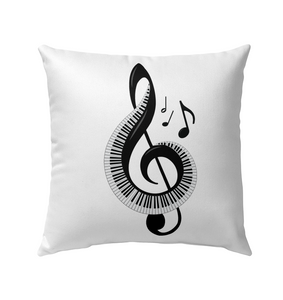 Keyboard Treble - Outdoor Pillow
