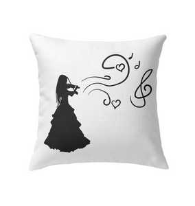Girl Playing Violin - Indoor Pillow