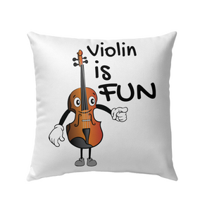 Violin is Fun - Outdoor Pillow