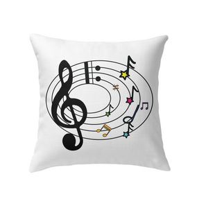 Musical Notes Spiral - Indoor Pillow