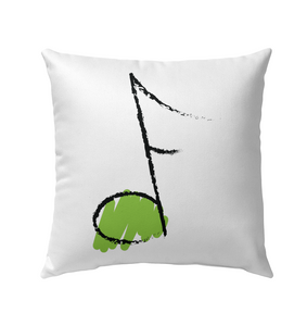 Green Note - Outdoor Pillow